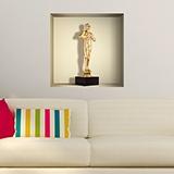 Wandtattoos: Nischen Oscar-Statue 5