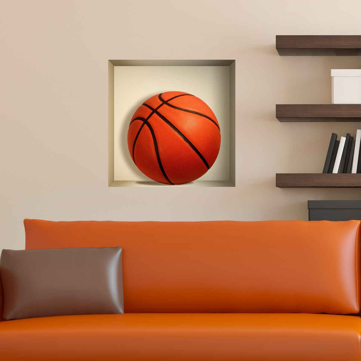 Wandtattoos: Nischen Basketball ball