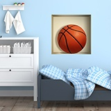 Wandtattoos: Nischen Basketball ball 5