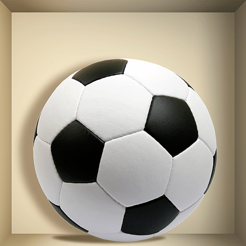 Wandtattoos: Nischen Fußball-Spielball