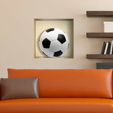 Wandtattoos: Nischen Fußball-Spielball 1