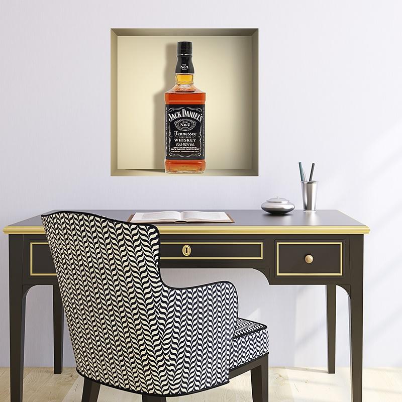 Wandtattoos: Nischen Flasche Jack Daniels