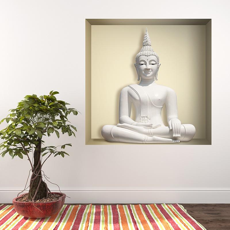 Wandtattoos: Nichen Weißer Buddha