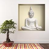 Wandtattoos: Nichen Weißer Buddha 5
