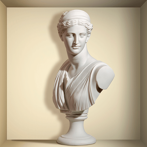Wandtattoos: Nischen Antike Statue aus Marmor