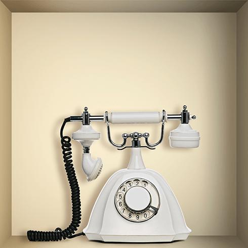 Wandtattoos: Nischen Vintage Phone
