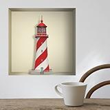 Wandtattoos: Nischen Maritime Leuchtturm 5