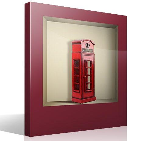 Wandtattoos: Nischen London Telefonzelle