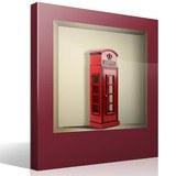 Wandtattoos: Nischen London Telefonzelle 4