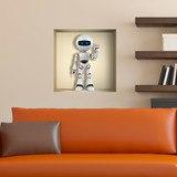 Wandtattoos: Nischen-Roboter 1