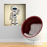 Wandtattoos: Nischen-Roboter 5