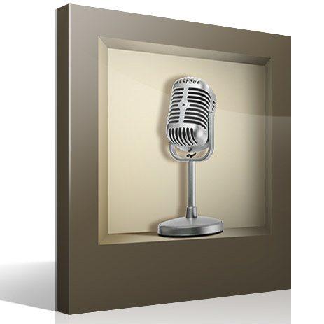 Wandtattoos: Retro-Mikrofon Nischen