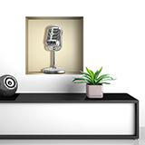 Wandtattoos: Retro-Mikrofon Nischen 5