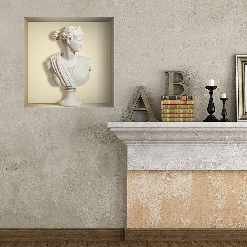 Wandtattoos: Griechischen Marmorbüste