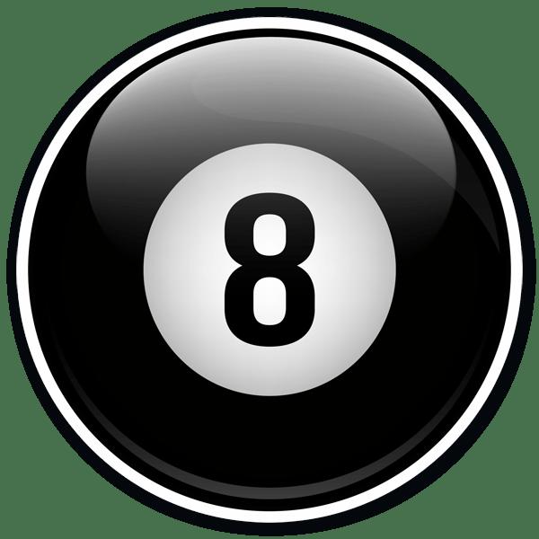 Aufkleber: 8 ball