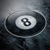 Aufkleber: 8 ball 4