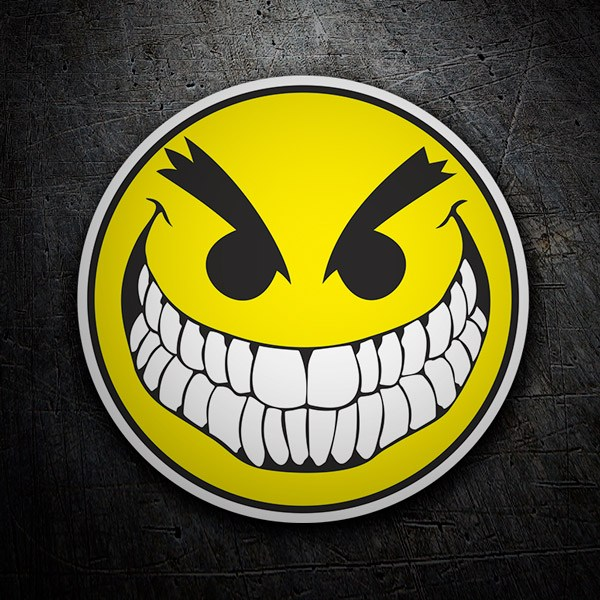 Aufkleber: Bad Smiley