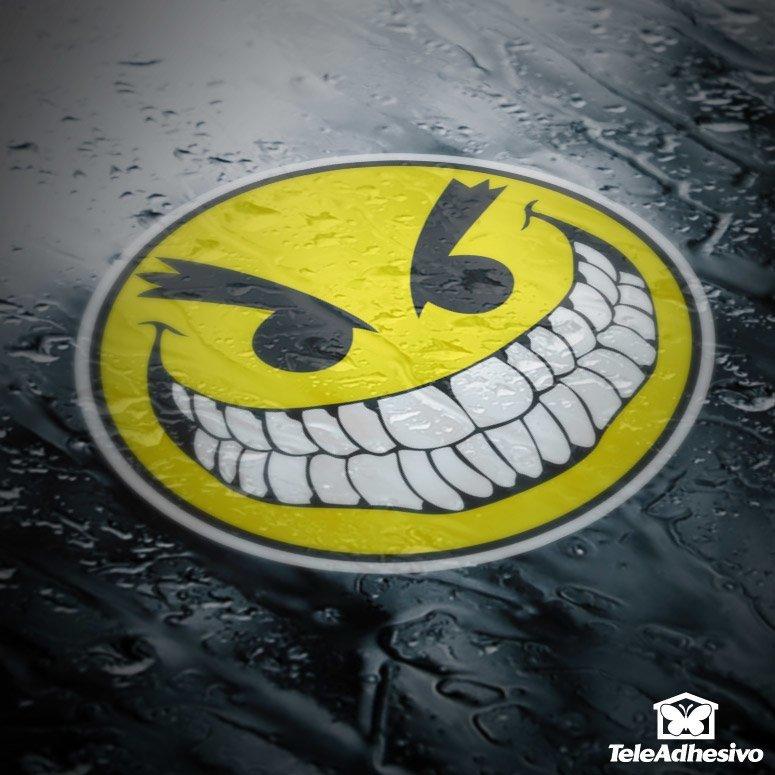 Aufkleber: Bad Smiley
