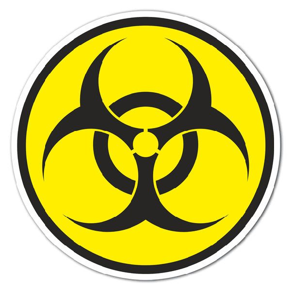 Aufkleber: Bio Hazard Color
