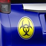Aufkleber: Bio Hazard Color 3