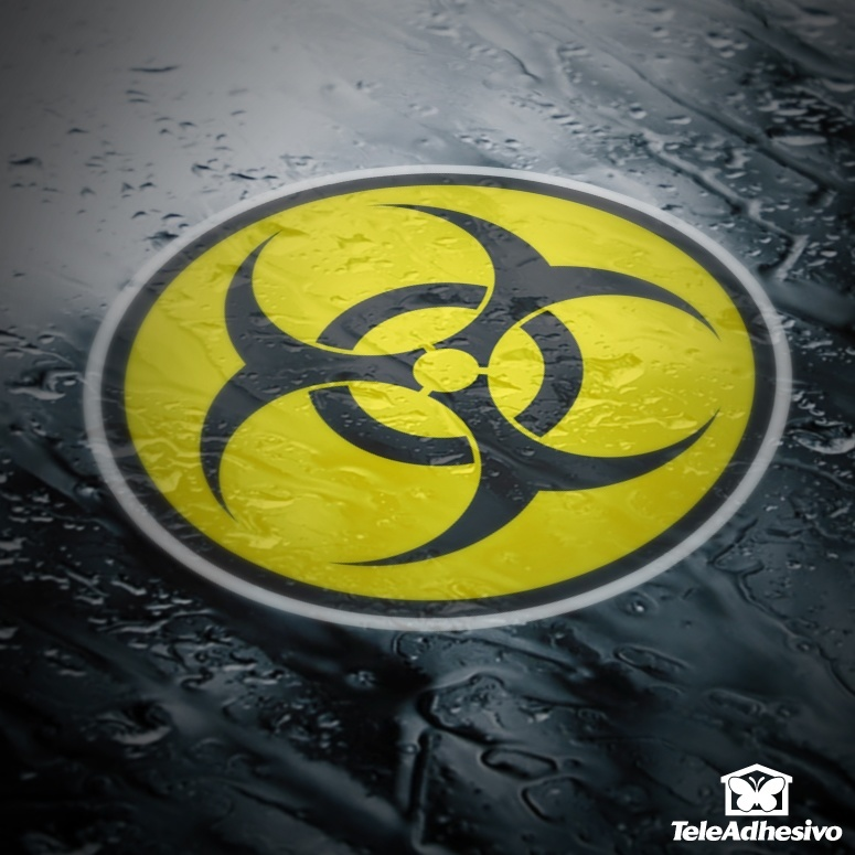 Aufkleber: Bio Hazard Color