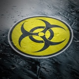 Aufkleber: Bio Hazard Color 4