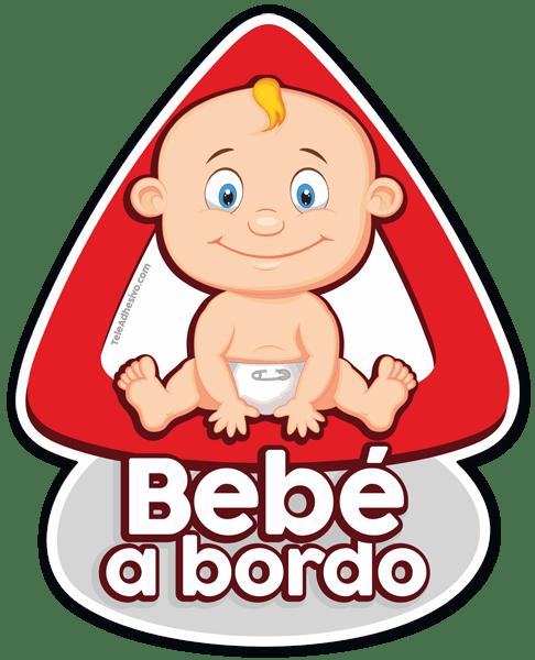 Aufkleber: Baby an Bord auf Spanisch