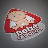 Aufkleber: Baby an Bord auf Spanisch 5