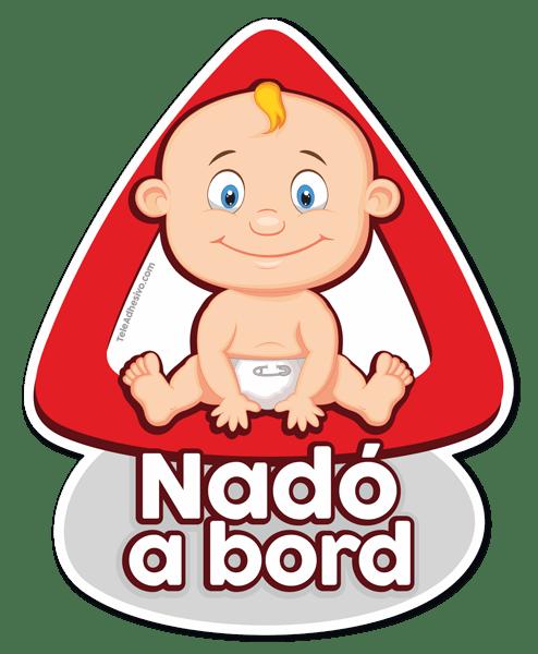 Aufkleber: Baby an Bord auf Katalanisch