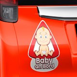 Aufkleber: Baby an Bord auf Deutsch 3