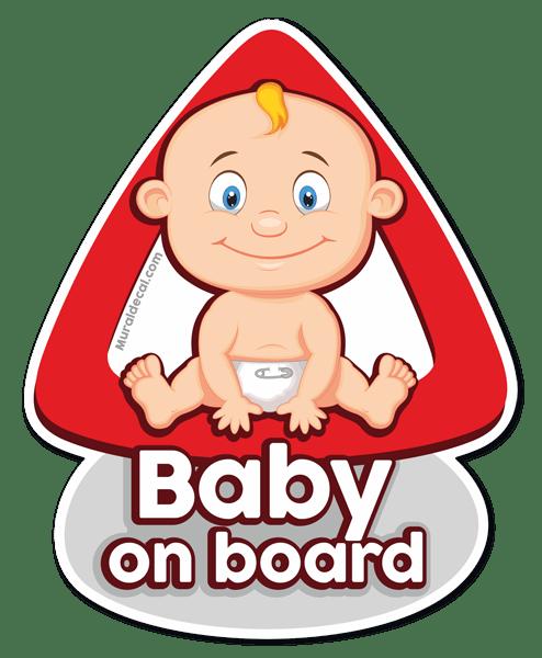 Aufkleber: Baby an bord auf Englisch