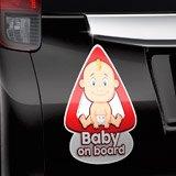 Aufkleber: Baby an bord auf Englisch 3