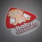 Aufkleber: Baby an bord auf Englisch 4
