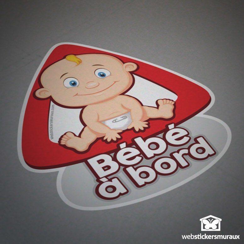 Aufkleber: Baby an Bord auf Französisch