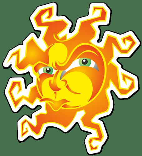 Aufkleber: Sonne