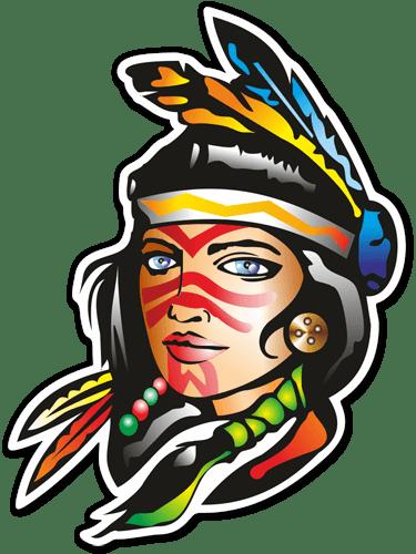 Aufkleber: Indisch