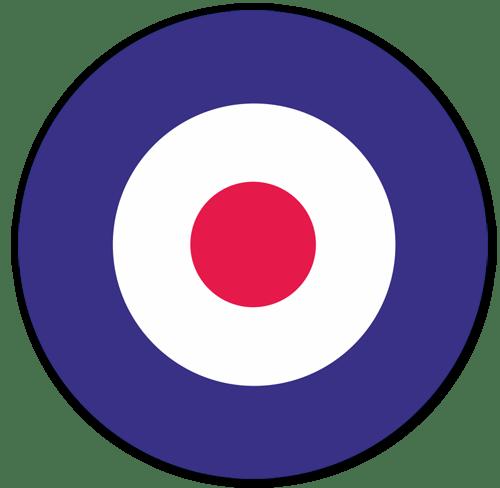 Aufkleber: Britische Flugzeuge Insignien