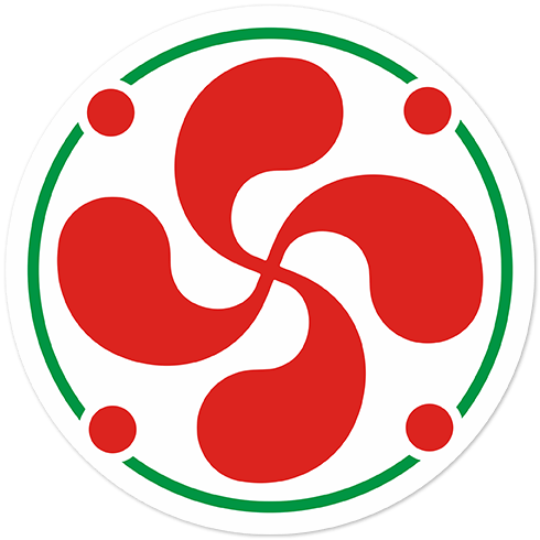 Aufkleber: Basken Lauburu Farbe