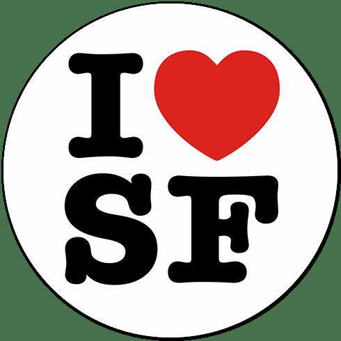 Aufkleber: I love SF