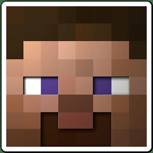 Wandtattoos: Minecraft Hautkopf 6