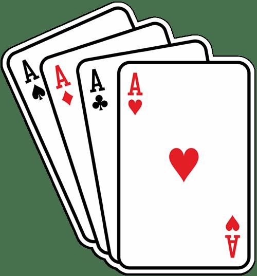 Aufkleber: Poker-Asse Karten