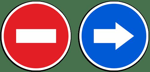 Aufkleber: Verkehrszeichen