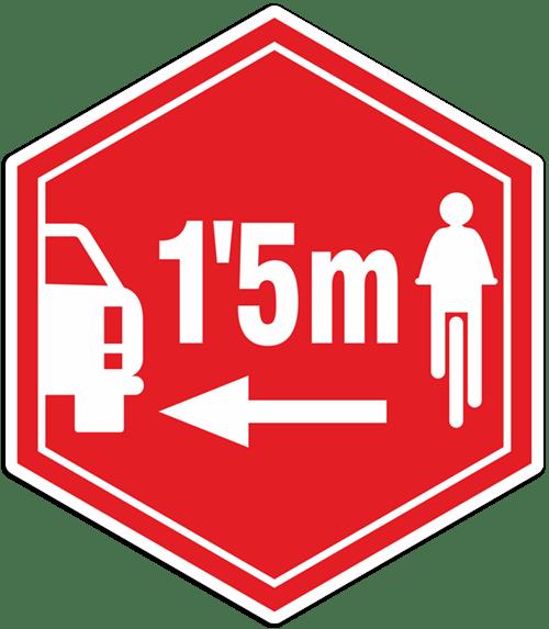 Aufkleber: Respektieren Radfahrer.