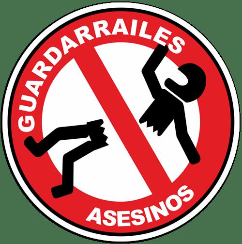 Aufkleber: Stop Guardarrailes Asesinos