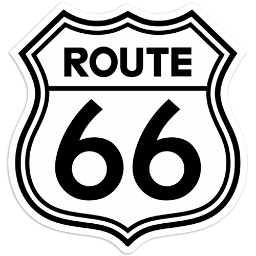 Aufkleber: Route 66 2