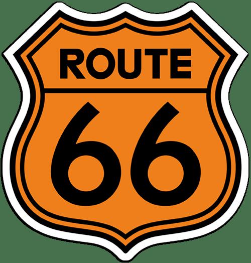 Aufkleber: Route 66 3