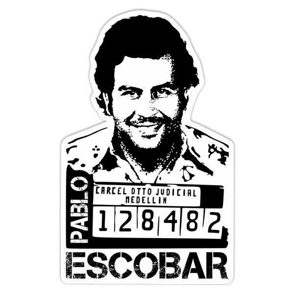 Aufkleber Foto Pablo Escobar Webwandtattoocom