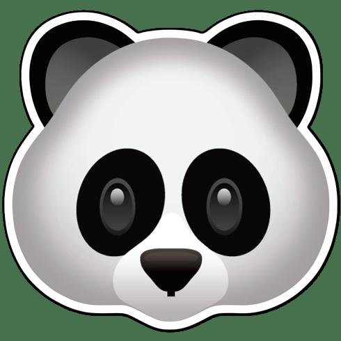 Aufkleber Emoji Panda Gesicht