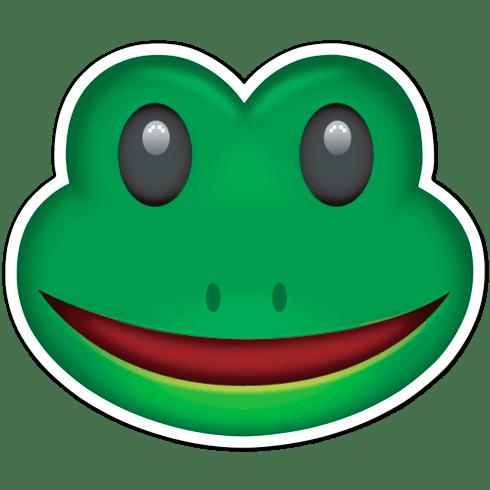 Aufkleber Emoji Frosch Gesicht