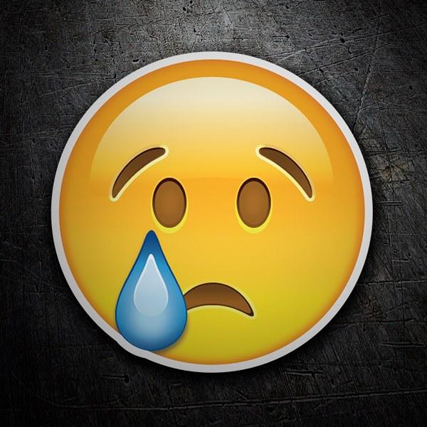 Aufkleber Trauriges Gesicht Weinen